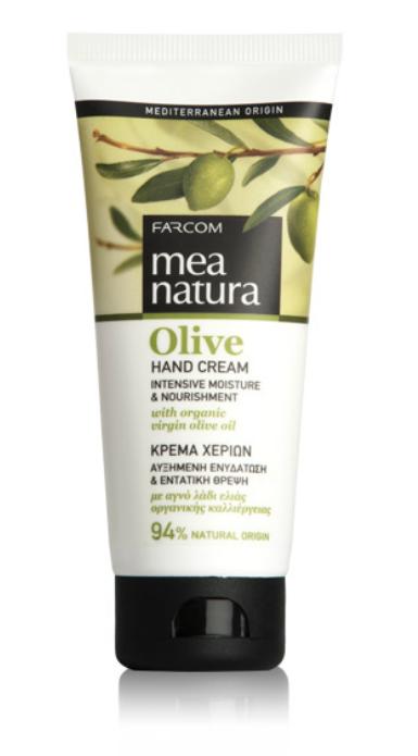 Farcom MEA NATURA Olive Увлажняющий и питательный крем для рук с оливковым маслом 100 мл.